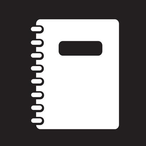 símbolo de ícone de caderno