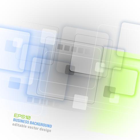 Fundo de vetor abstrato de negócios com padrão de quadrados.