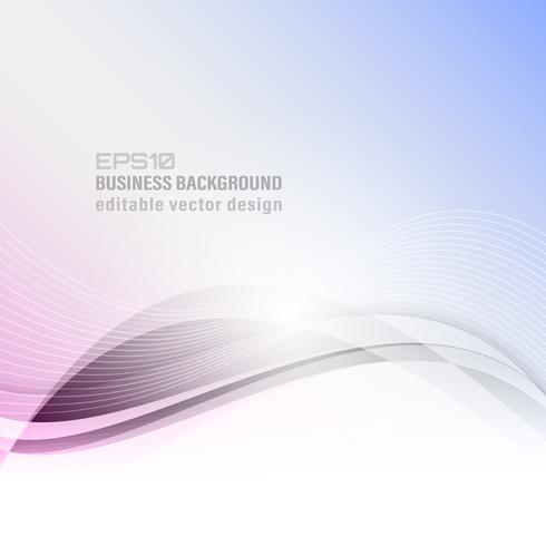 Abstract wavy vector business background.