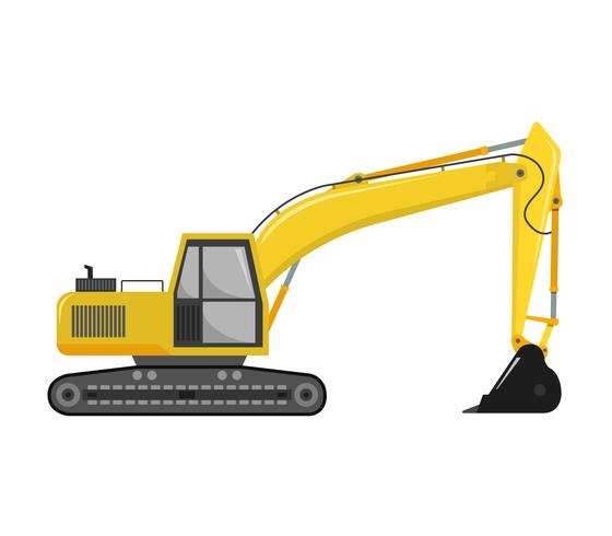 Excavator icon on a white background