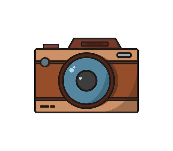 Icône de caméra sur fond blanc