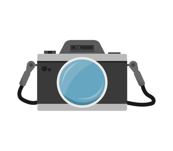 Icona della fotocamera su uno sfondo bianco