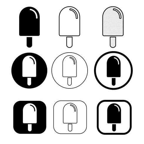 set van eenvoudige ijs pictogram