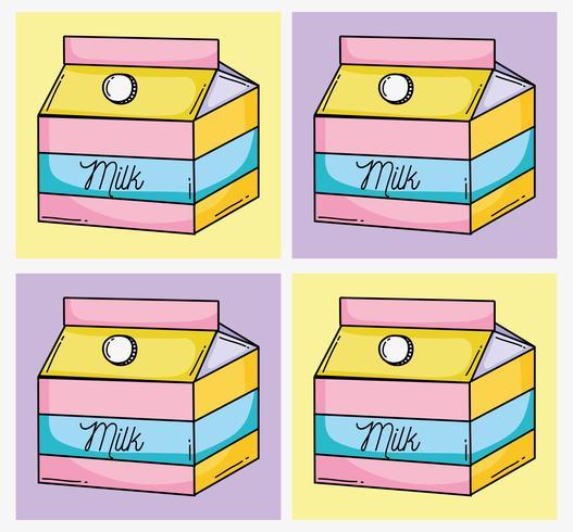 Conjunto de dibujos animados de arte pop