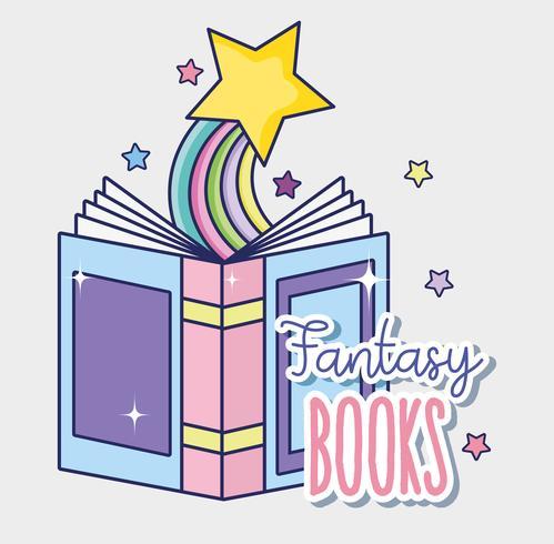 Libros de fantasía y magia. vector