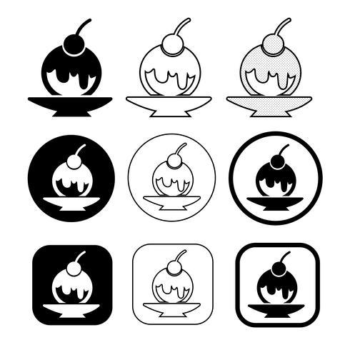 uppsättning av enkla glassymboler