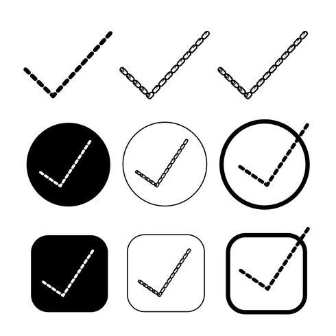 Simple icono de garrapata aceptar aprobar signo