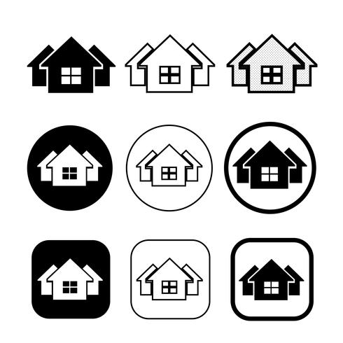 eenvoudig huis symbool en pictogram van de thuis teken