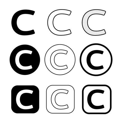 Symbole de symbole d'icône de copyright