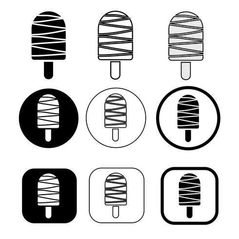 Reihe von einfachen Eis-Symbol vektor