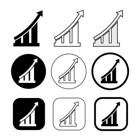 Enkel uppsättning diagram och grafikikon
