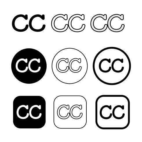 Signo de símbolo de icono de Creative Commons