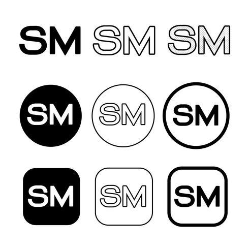 Symbole de symbole de marque de service