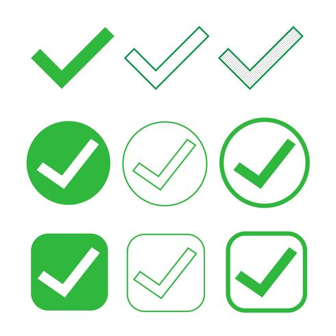 Simple Tick icon accept approve sign