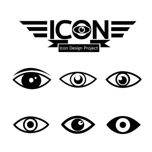 Symbol för ikon för ögonikonen