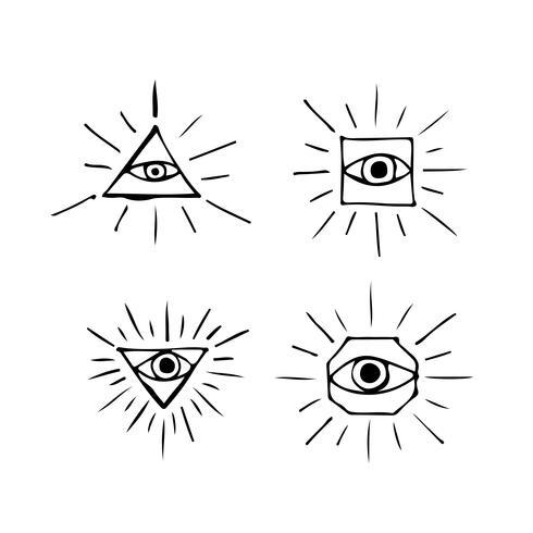 Eye icon  symbol sign vector