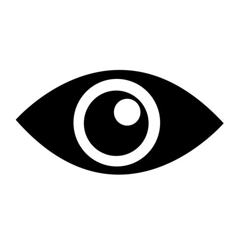 Eye icon  symbol sign vector