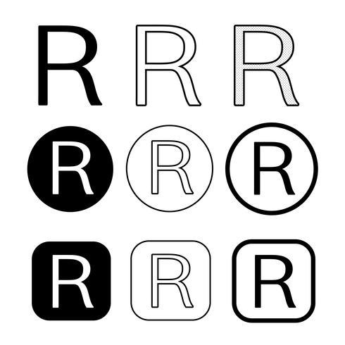 Sinal de símbolo de ícone de marca registrada