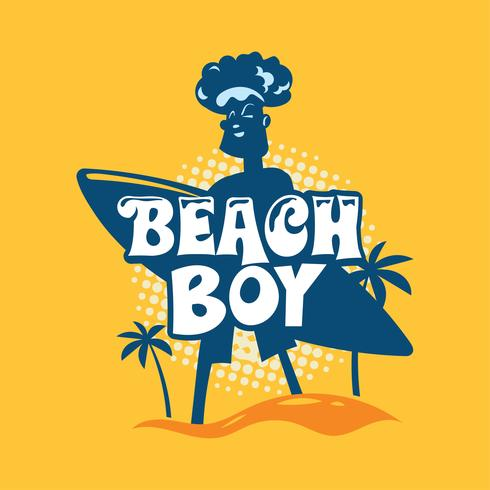 Beach Boy Phrase. Sommarcitationstecken