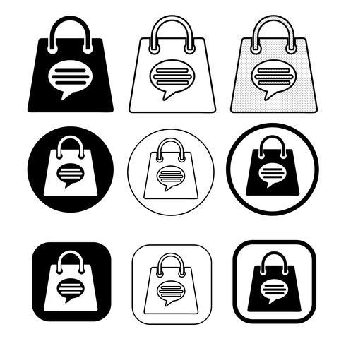 Einkaufstasche-Symbol Verkauf Paket Zeichen