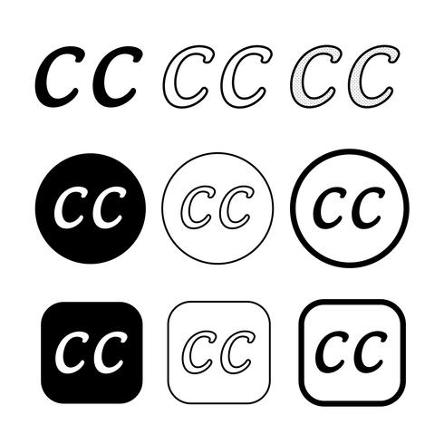 Creatieve commons pictogram symbool teken