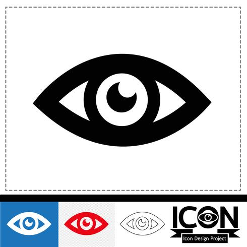 Auge Symbol Symbol Zeichen vektor