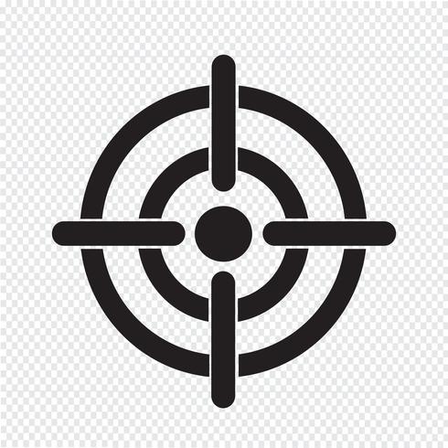 Icono de destino símbolo de signo