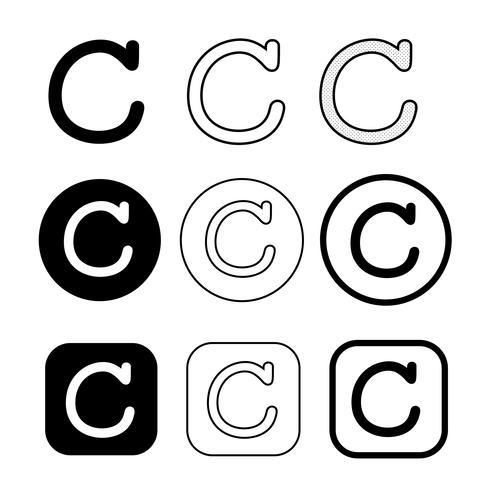 Copyright-Symbol Symbol Zeichen vektor