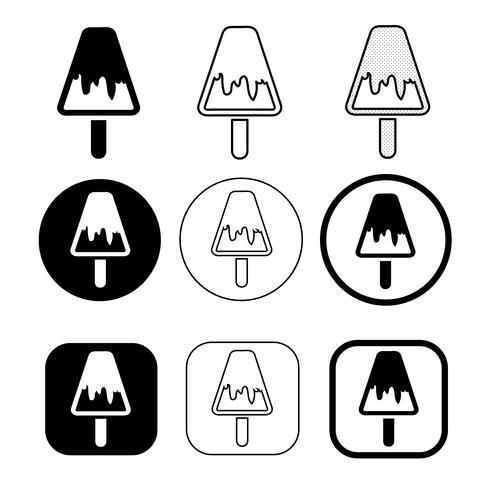 set of simple Ice Cream icon  vector