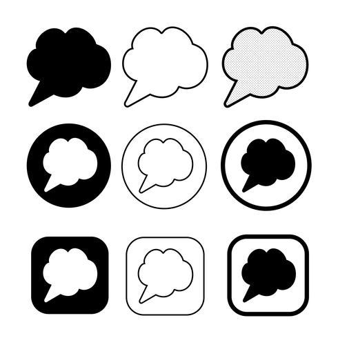segno di simbolo dell'icona di bolle di discorso