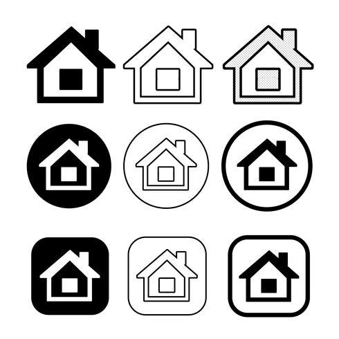 símbolo de casa simples e sinal de ícone em casa