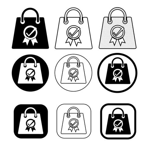 Shopping bag icon Sale package sign
