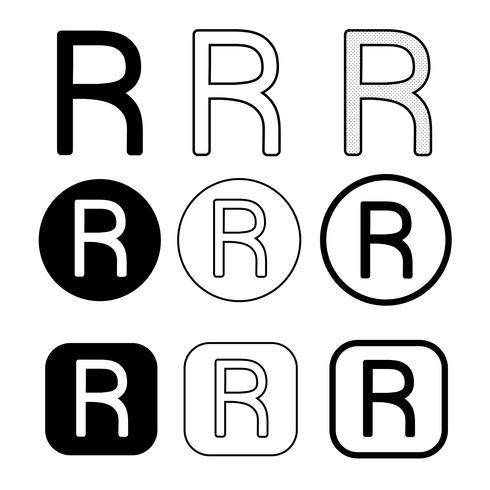 Signo de símbolo de icono de marca registrada