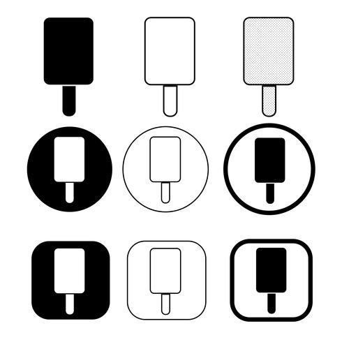 conjunto de icono de helado simple