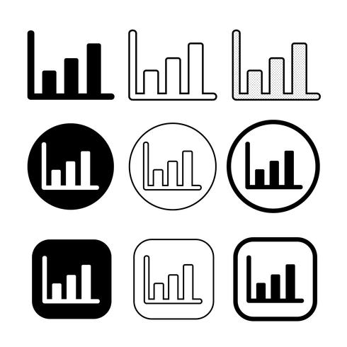 Simple set of diagram and graph icon