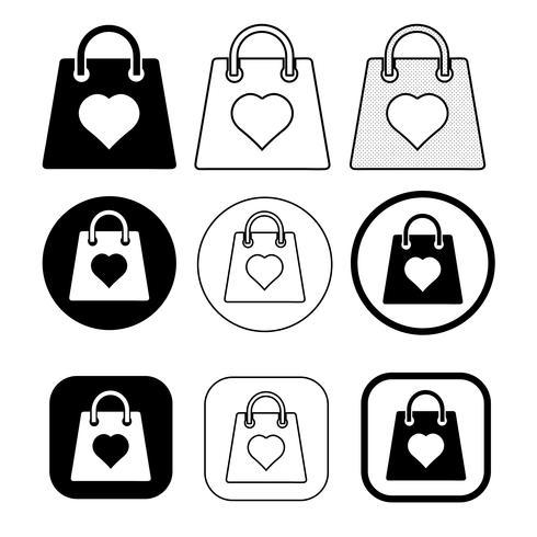 Ícone de sacola de compras