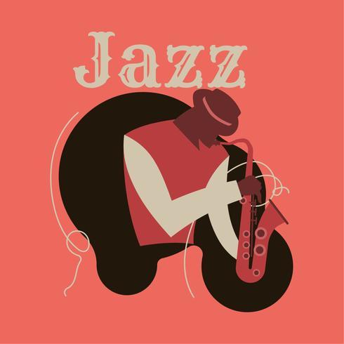 Art abstrait de jazz pour affiche vecteur