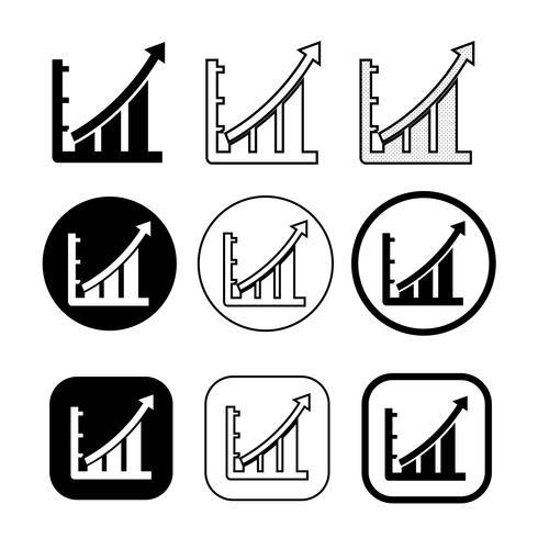 Ensemble simple d'icône de diagramme et graphique