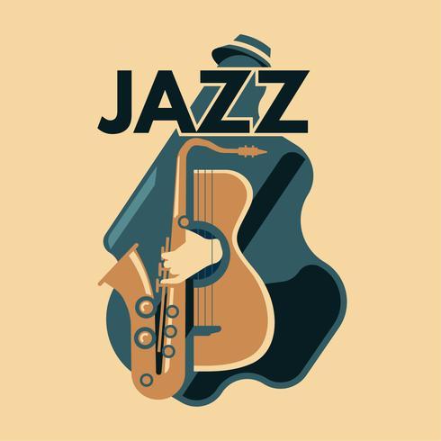 Arte abstracto del jazz para el cartel
