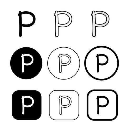 segno di simbolo dell'icona del copyright phonogram