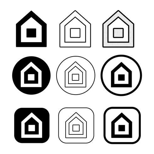 Símbolo de casa simple y signo de icono de inicio