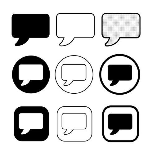 discurso burbujas icono símbolo signo