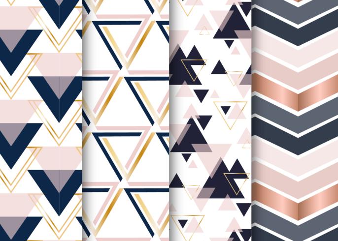 Scandinavisch patroon Geometrische driehoeken instellen vector