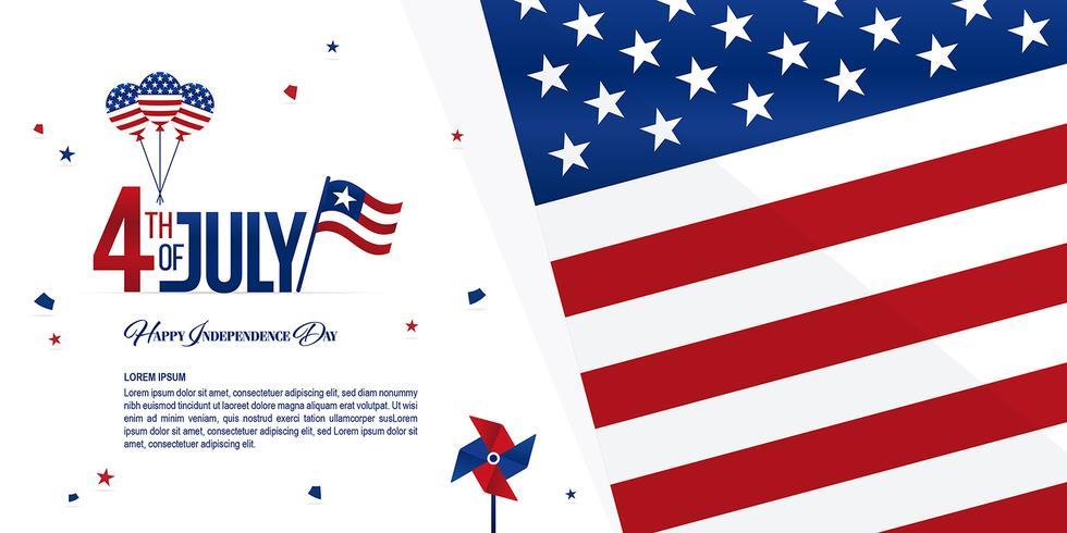 dag van de onafhankelijkheid banner vector