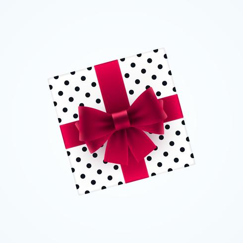 Confezione regalo con fiocco rosso