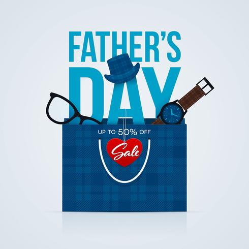 Fathers Day Sale Flyer vektor