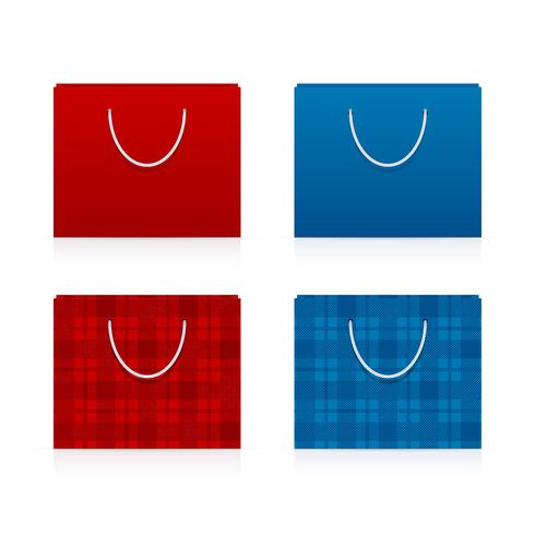 Simple and patterned shopping bags