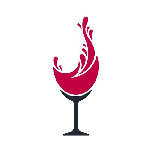 Wine splash vector illustration