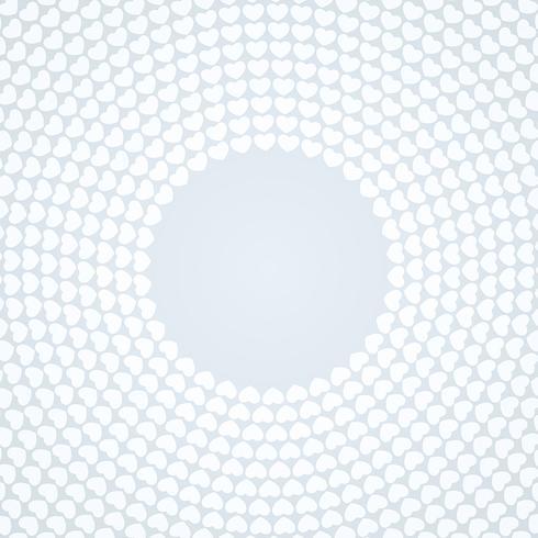 Witte cirkelhart gevormde achtergronden
