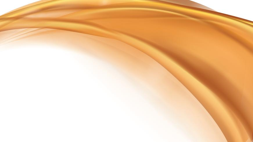 Vetor abstrato líquido fluindo laranja dourado
